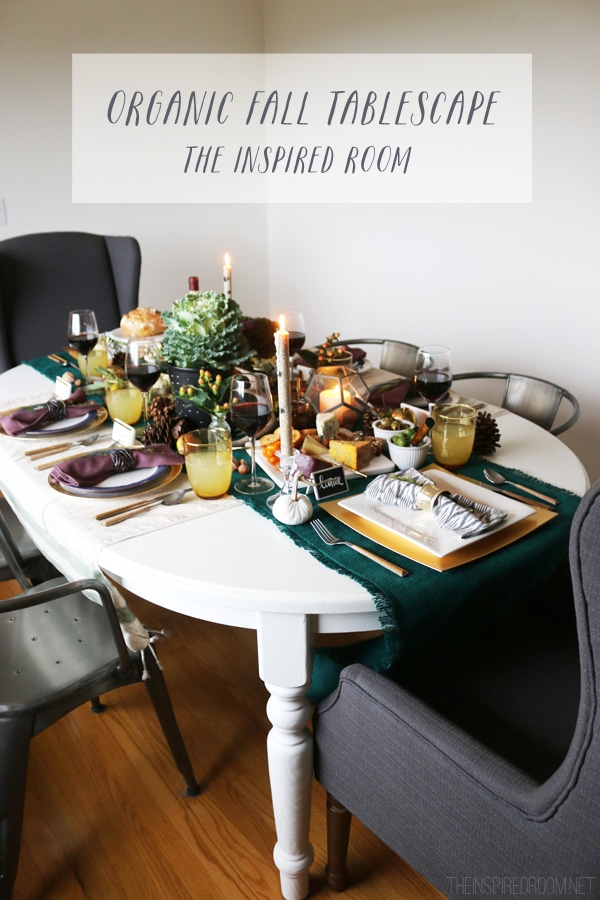 Organic Thanksgiving Tablescape {and video!}