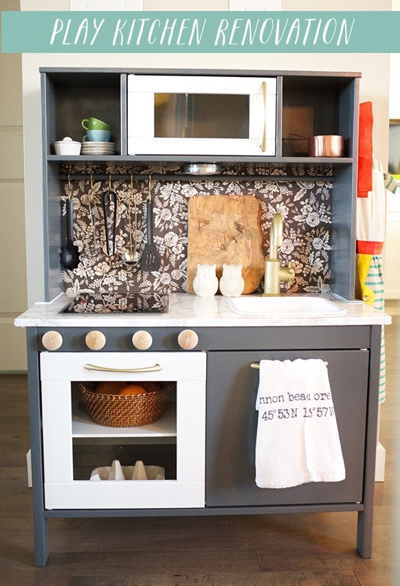 Play Kitchen Renovation - DIY Ikea Duktig Hack - by Cassie at The Inspired Room