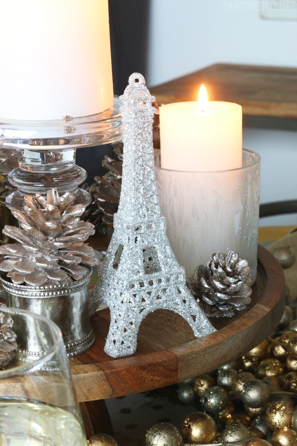 Simple Centerpiece - Cozy Glam Tablescape by The Inspired Room