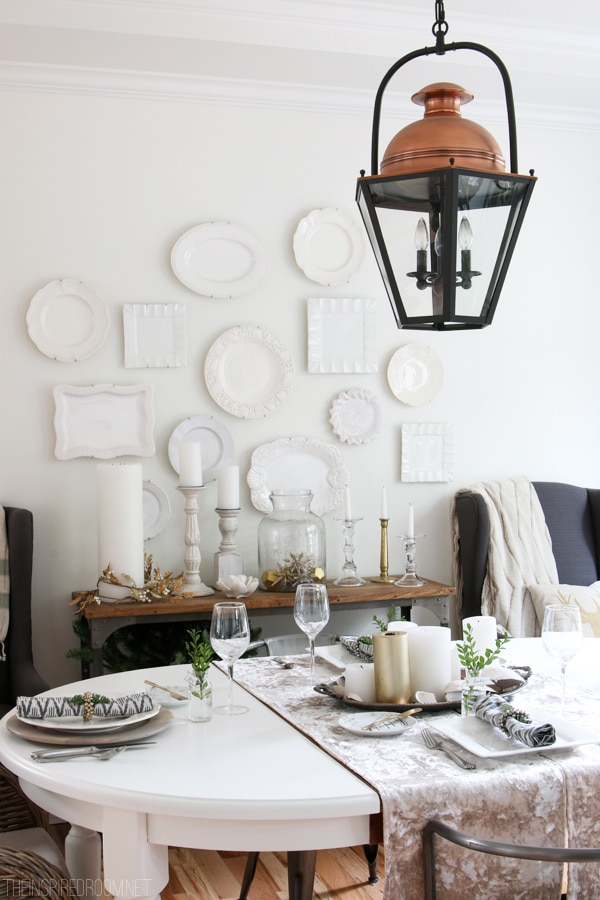 The Inspired Room Dining Room - Simple Christmas Decorating