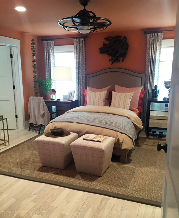 Bedroom in the HGTV Dream Home