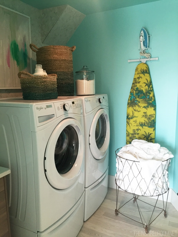 Blue Laundry Room - HGTV Dream Home