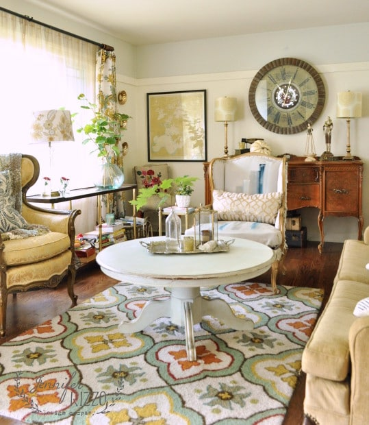Collected and Colorful Living Room - Jennifer Rizzo