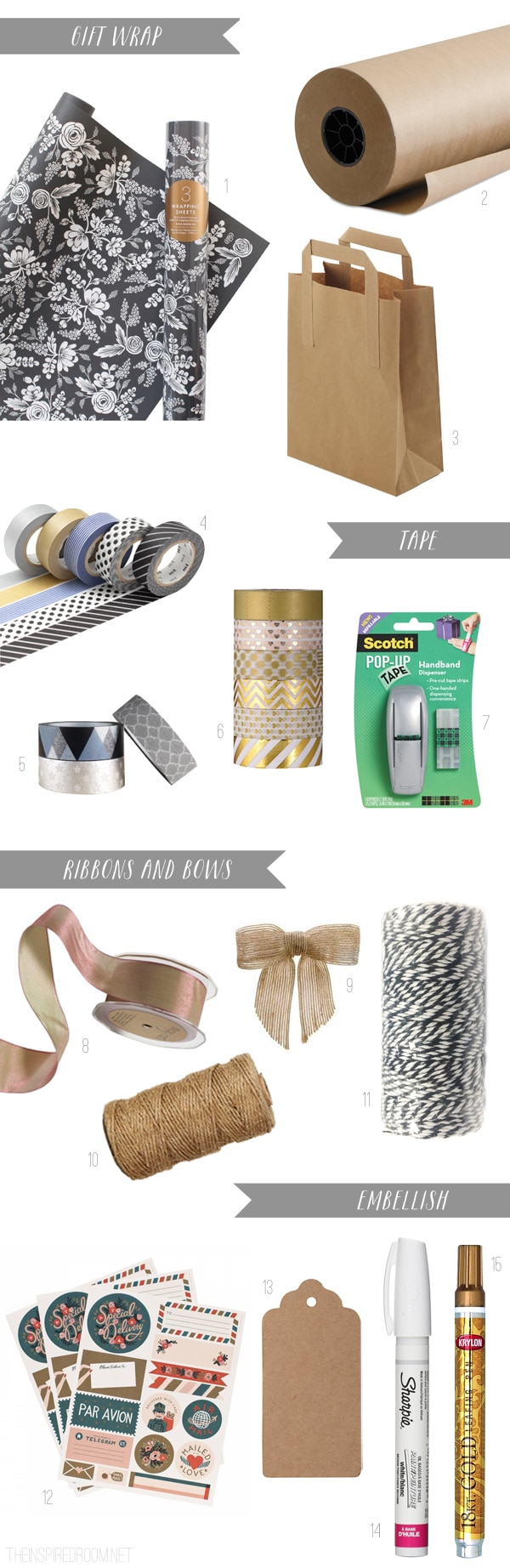Gift Wrapping Ideas - The Inspired Room