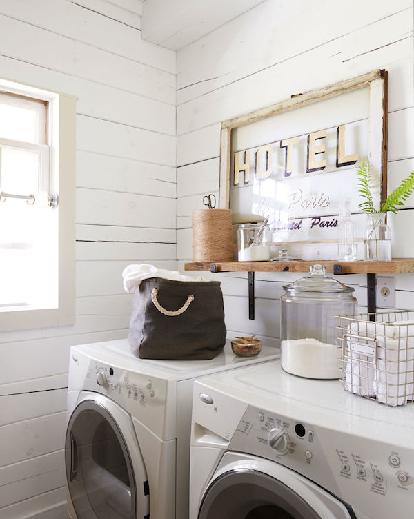 5 inspiring organizing projects to jumpstart the new year for Shelf above washer and dryer