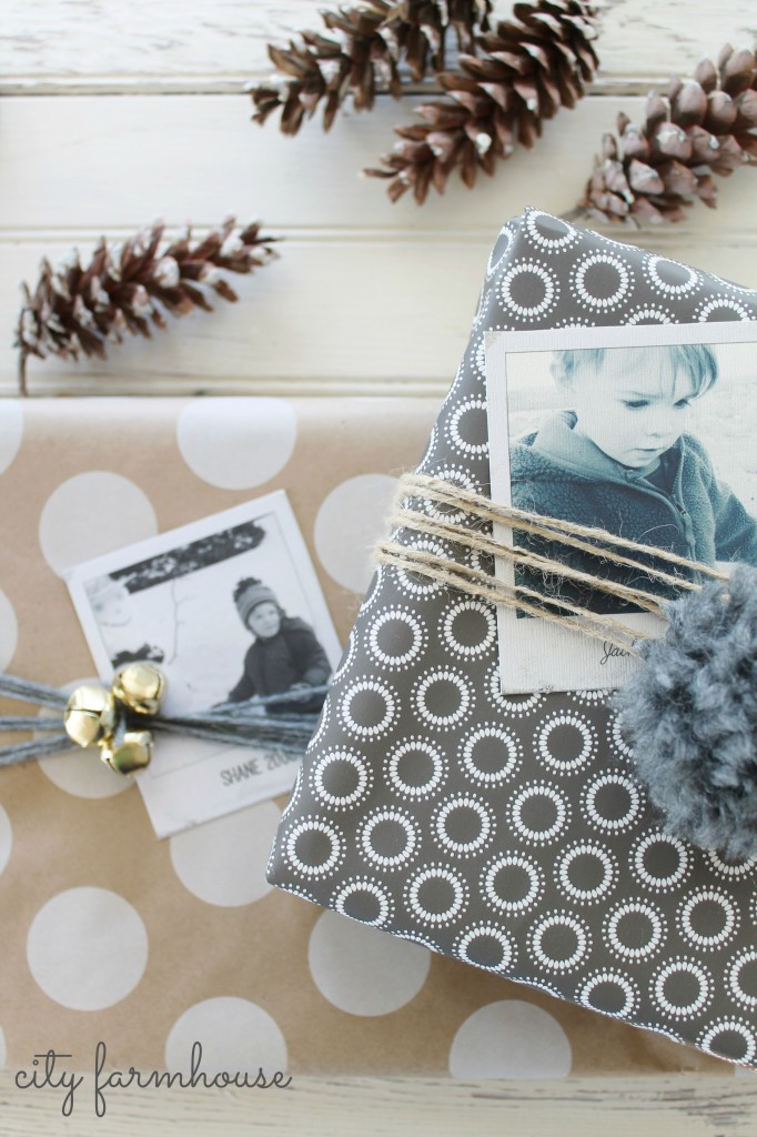 Polaroid Gift Wrap Idea - City Farmhouse