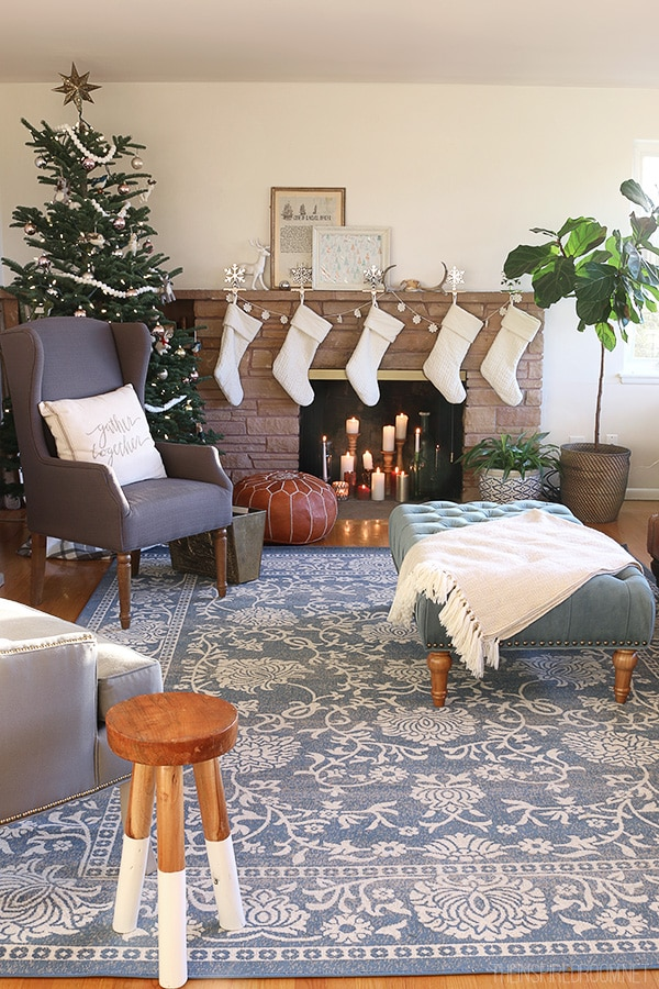 The Inspired Room - Christmas Family Room