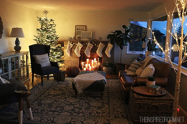Christmas in Our Living Room New Rug Room Update The Inspired