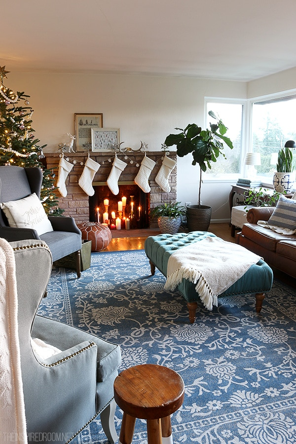 The Inspired Room Family Room Christmas