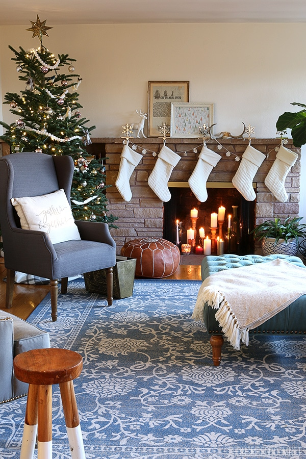 Christmas in Our Living Room {New Rug & Room Update!}