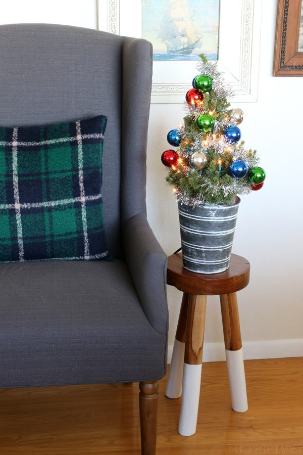 The Inspired Room - Gray Wingback - Harry and David Christmas Tree
