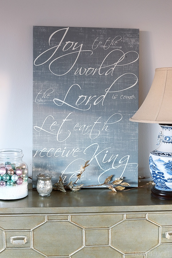 The Inspired Room - Joy to the World Canvas by Red Letter Words