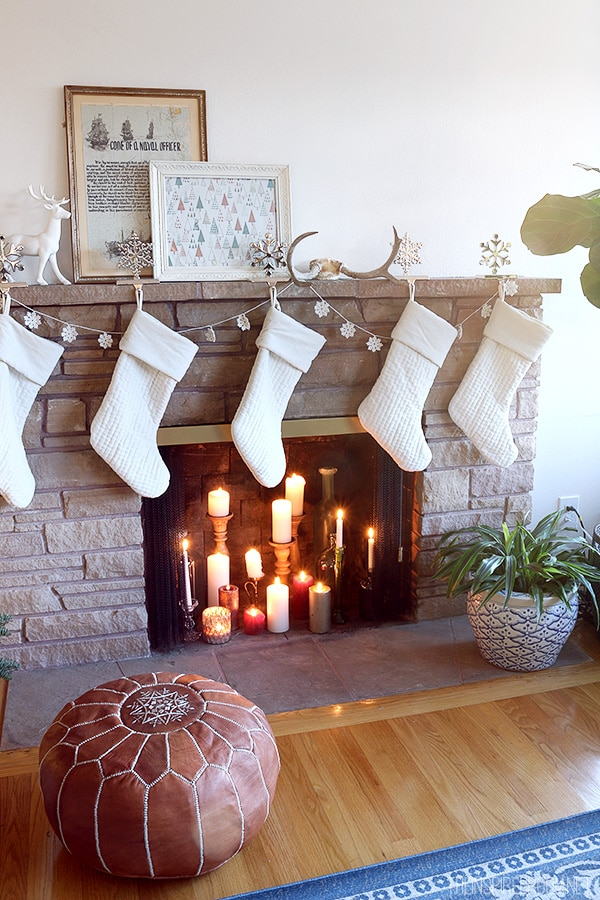 The Inspired Room Simple Christmas Fireplace