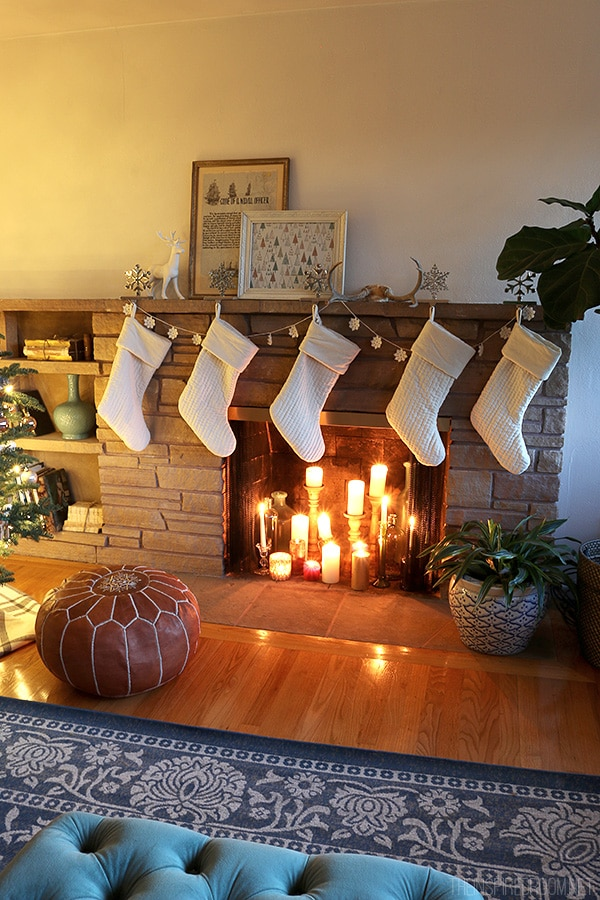 The Inspired Room - Simple Christmas Fireplace
