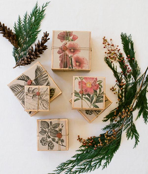Unique Gift Wrapping Idea - Flora and Fauna - Tutorial by Once Wed