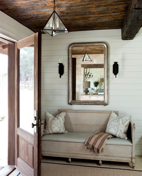 {Inspired By} Wood Beam & Plank Ceiling Design