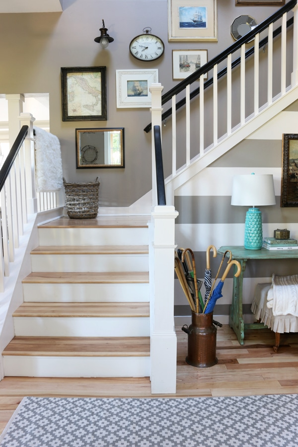 Home decor on pinterest fixer upper chip and joanna for Foyer staircase ideas
