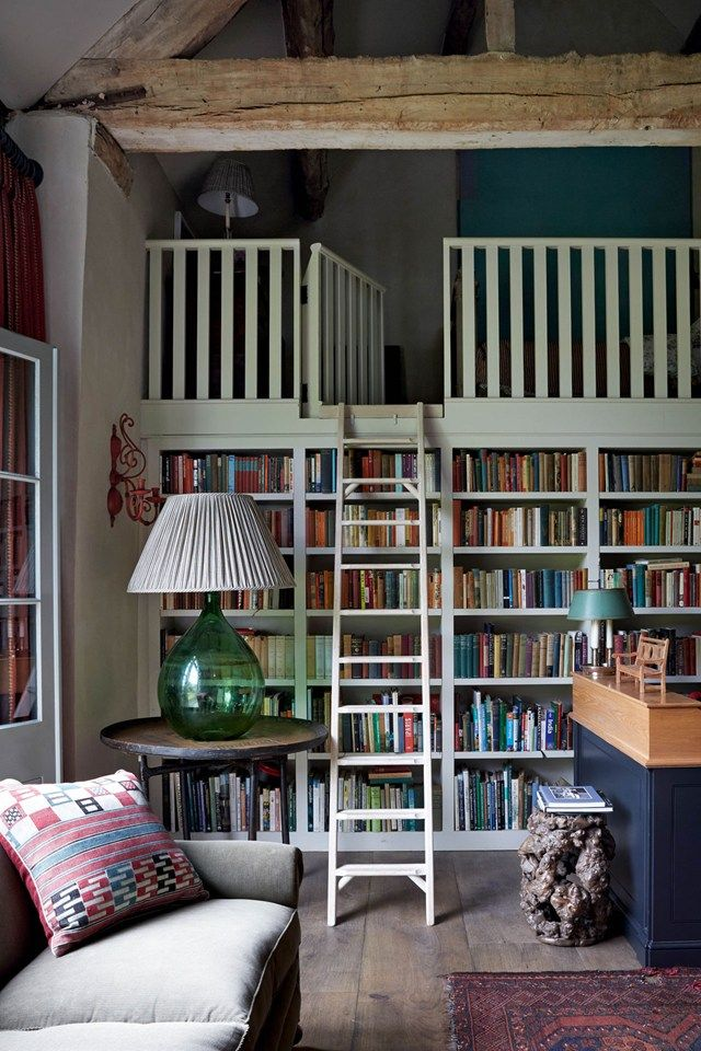 Built-In Bookshelves and Loft - House and Garden UK