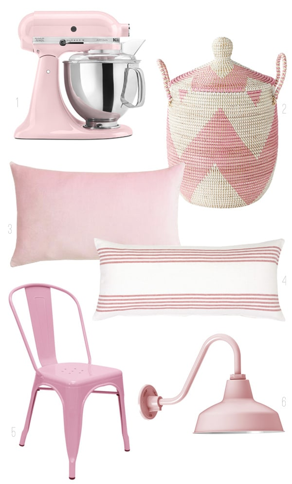 Color Inspiration - Pink Home Decor Round Up - The Inspired Room