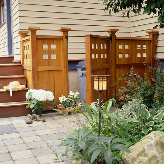Concealing Trash Cans with Fencing