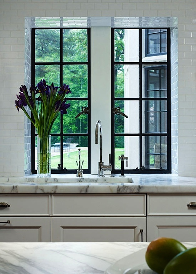 Counter Height Kitchen Sink Window - Flush