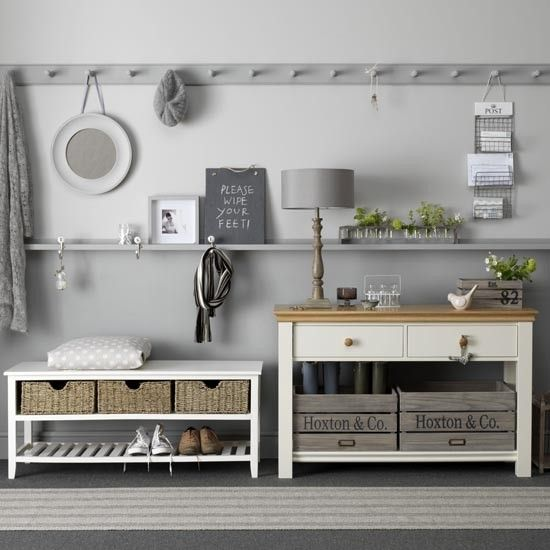 Gray and White Functional Entryway - House to Home