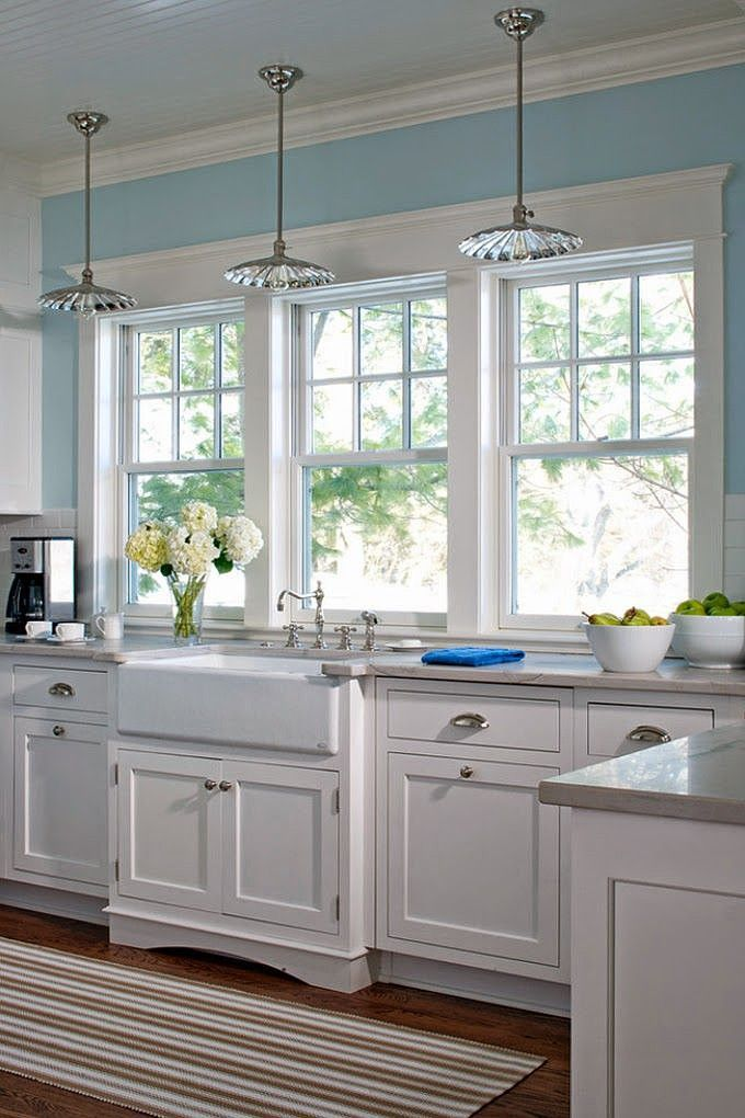 My kitchen remodel windows flush with counter the for House plans with kitchen sink window