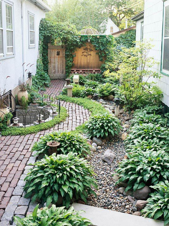 Landscaped Side Yard Path