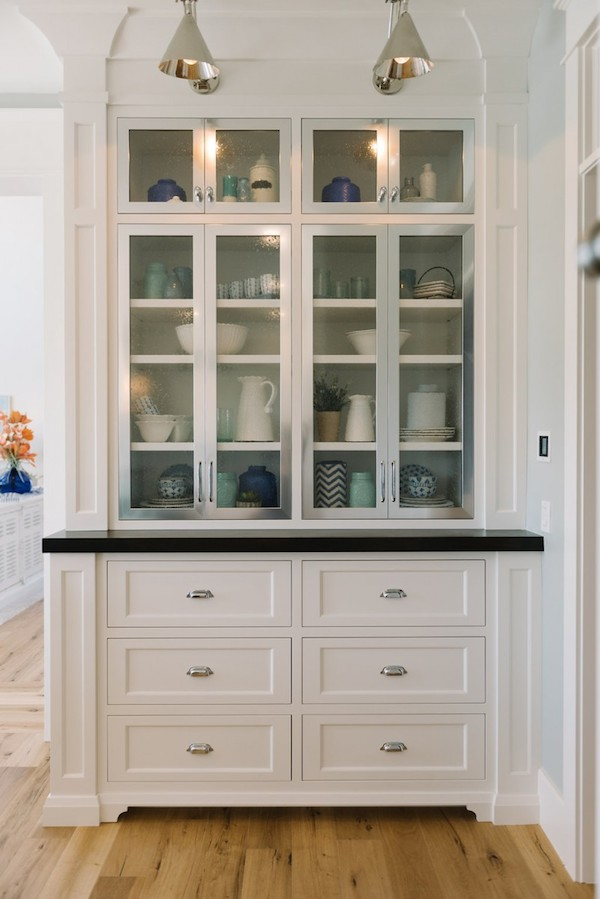 Kitchens to love on pinterest butler pantry white for Built in dining room cabinet designs