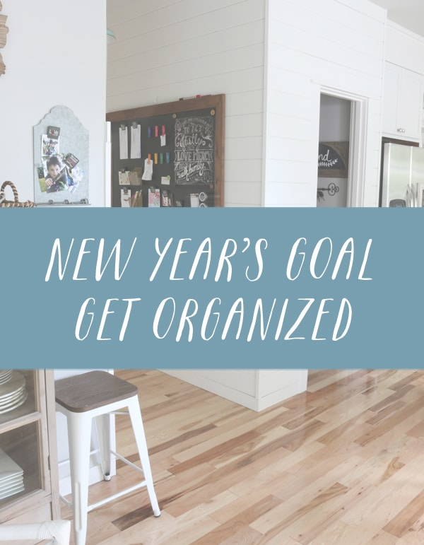 New Year's Goal - Get Organized - The Inspired Room