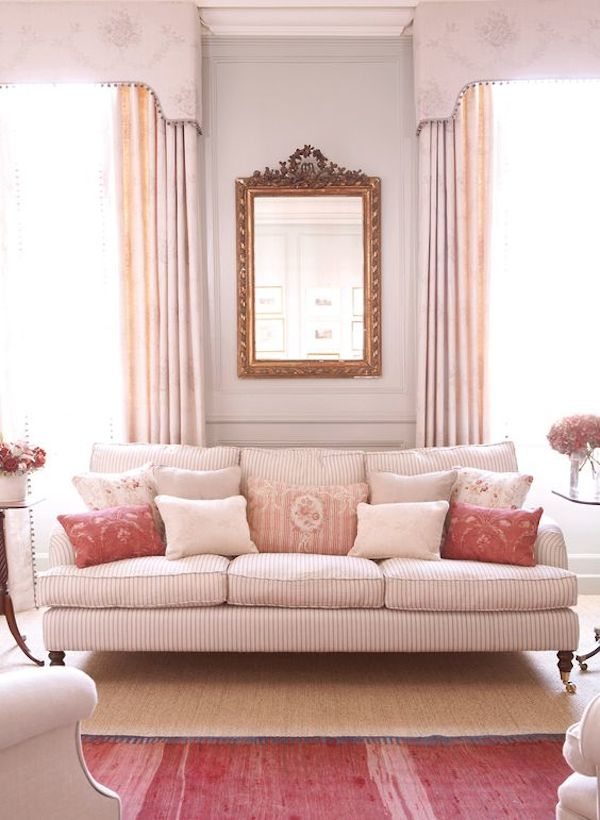 Pink Striped Sofa - Kate Forman
