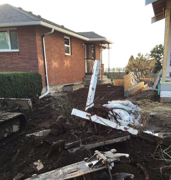 Progress in the Sideyard