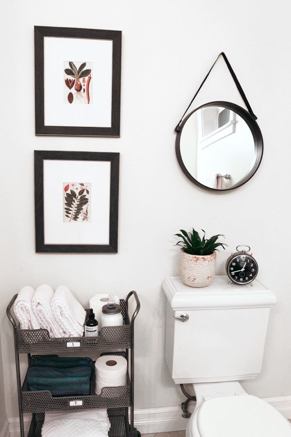 The Inspired Room Bathroom - TIered Storage Cart