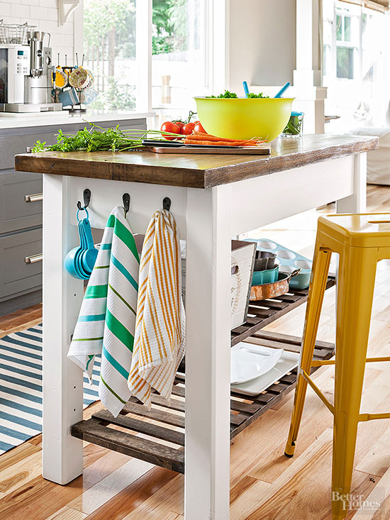 From chaos to organized a home organizing shop the for Better homes and gardens kitchen island ideas