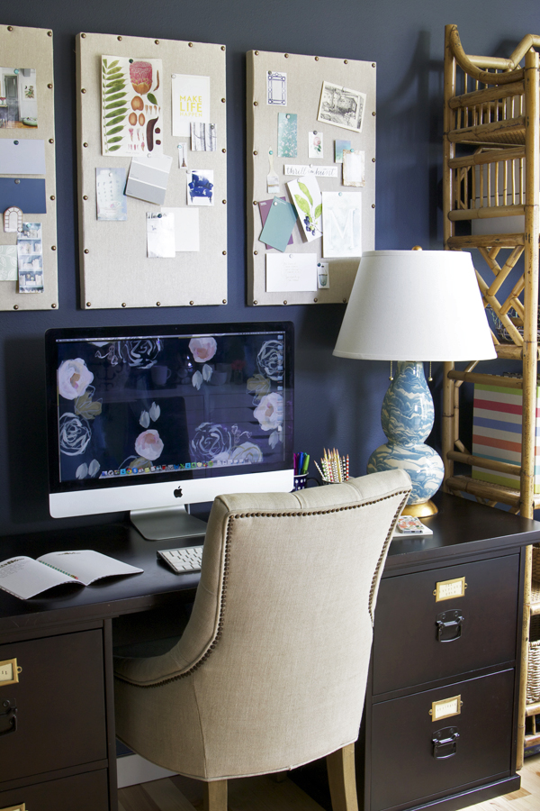 The Inspired Room - Navy Home Office