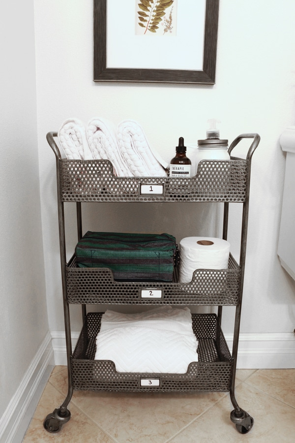 Tiered Bathroom Storage Cart - The Inspired Room
