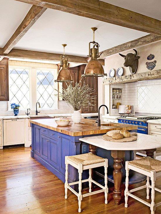 Wood Beams Kitchen BHG