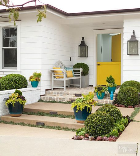 Dutch door and sideyard porch BHG