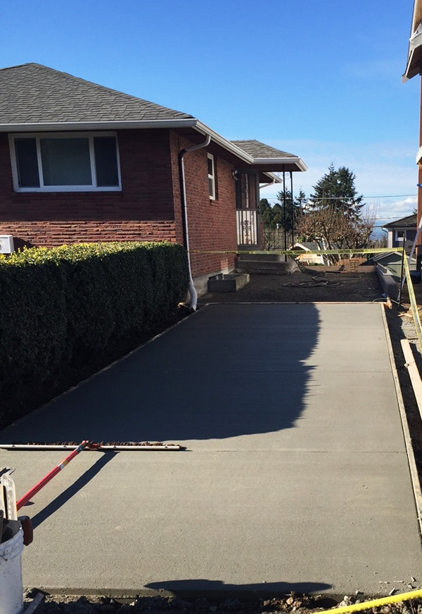 Driveway Progress - The Inspired Room Side Yard Project