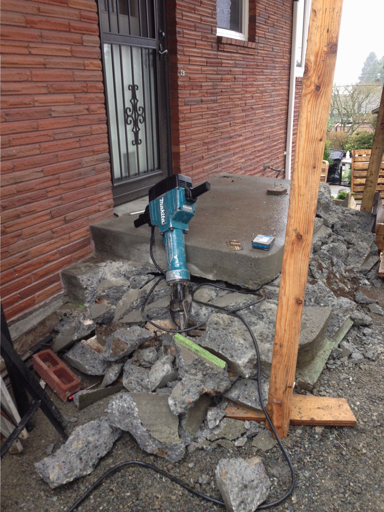 Exterior Concrete Porch Removal