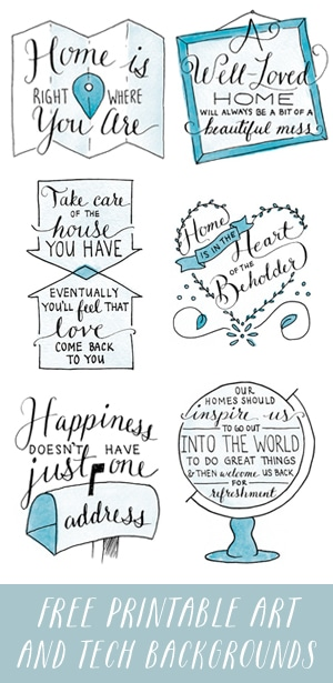 Free Printable Artwork and Tech Backgrounds from the New York Times Best Seller Love the Home You Have - The Inspired Room