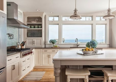 Kitchen with a View by Reef Cape Cods Home Builder