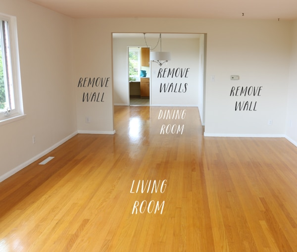Our Remodel Floor Plan Here Is A Good Visual Of The Walls Between Living Room And Dining
