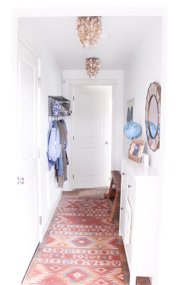 Organizing a Small Entry & A Hall Makeover {A Townhouse Update}