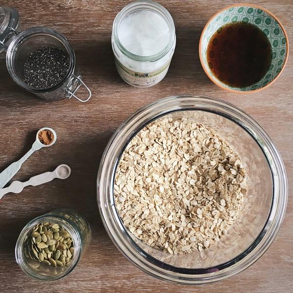 Coconut Oil and Maple Granola Recipe