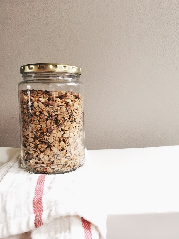 Coconut Oil and Maple Granola Recipe on The Inspired Room
