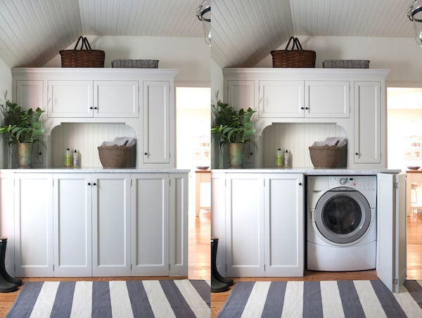 Concealed Washer and Dryer - by Sage Design Custom Millwork