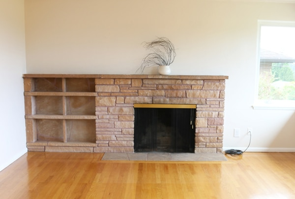 Fireplace Before - The Inspired Room