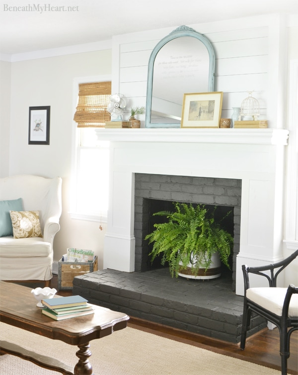 Fireplace Makeover Beneath My Heart