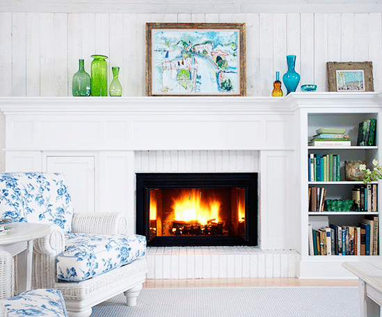 Fireplace Makeover with Built Ins - BHG